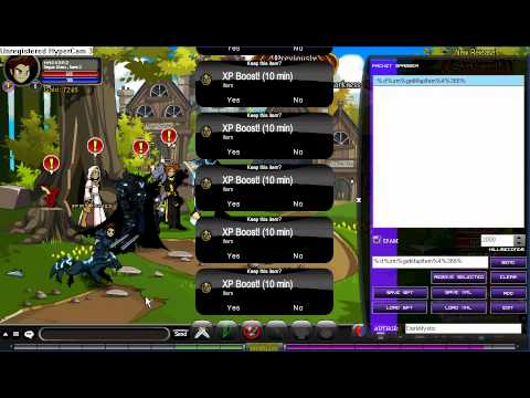 aqw how to use packet spammer.