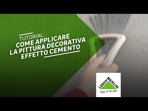 Pittura decorativa cemento design - YouTube
