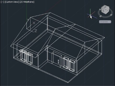 Autocad 3d house modeling tutorial beginner basic youtube for Home architecture cad