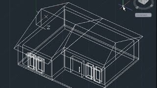 AutoCAD 3D House Modeling Tutorial Beginner (Basic)