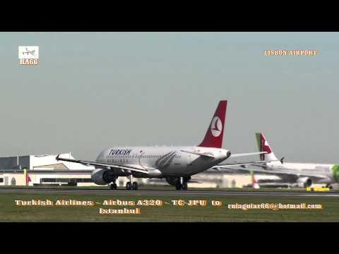 Turkish Airlines Airbus A320 Tap Portugal Airbus A340-300 Türk Hava Yolları Lizbon Havaalanı