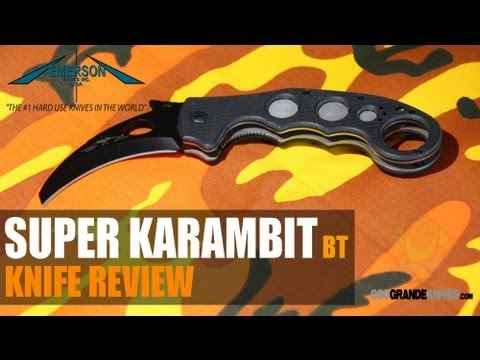 Emerson Super Karambit BT Folding Knife Review   OsoGrandeKnives