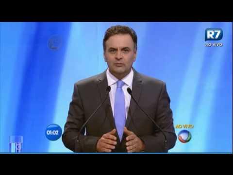 Melhores momentos de Aécio Neves no debate da Rede Record (28/09/2014)