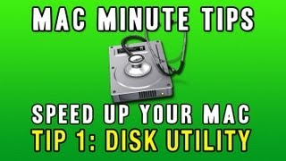 Mac Tips Under 2 Minutes : Speed Up Your Mac w/ Disk Utility Tip 1
