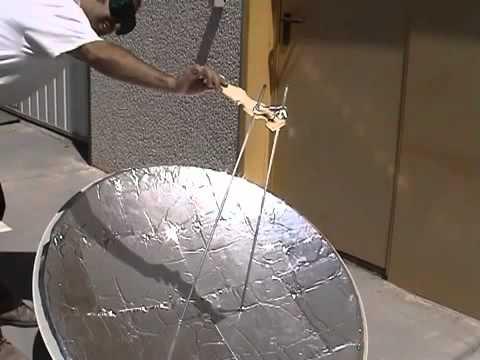 Cips poşetinden yapılma bir güneş ocağı