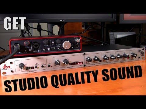 How To Remove Background Noise And Get Studio Quality Sound in Realtime with the DBX286s
