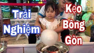 Bé Trải Nghiệm Làm Kẹo Bông Gòn ở Khu Vui Chơi VietKids   SauSoc TV