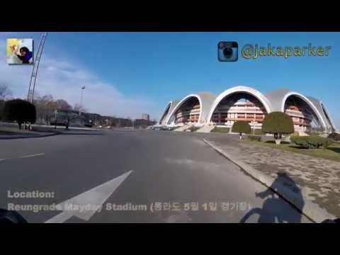 Cycling in Pyongyang - North Korea - Go Pro - Part 4-5