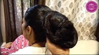 Knee Length Extra Thick Hair Oiling, Combing & Buning Video