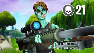 Solo VS Squads 21 Kill WIN! - Fortnite Battle Royale