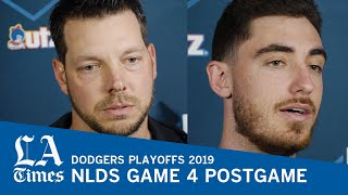 Dodgers Cody Bellinger and Rich Hill talk NLDS Game 4 loss