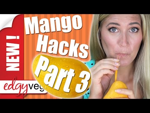 How to Cut a Mango: Indian Juice Box Style | Edgy Veg