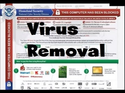 How To Remove FBI Homeland security Virus Ransomware In 3 Easy Steps - 100% working [HD]