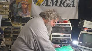 Commodore - Episode 194 - Cutting Capacitor Legs On The 4040 PCB - David Bradley - PET SuperPET C64