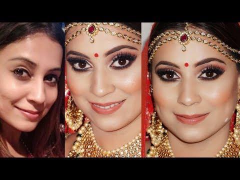 TRENDY & SOFT INDIAN/ASIAN BRIDAL MAKEUP | STEP BY STEP BRIDAL MAKEUP LOOK | shimmerandmusebysapna