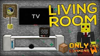 Living Room Furnitures with only one command block. | TV, Cushions, Pendulum Clocks!