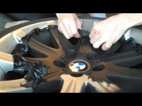 How To Peel Off Plasti Dip From Your Rims. Rims Used Are Off A BMW E65