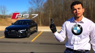 Crazy BMW Driver Drives A Audi RS7 FAST