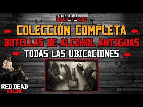 Colección 160$ Localización Botellas Alcohol Antiguas Todas Ubicaciones Red Dead Online Madam Nazar