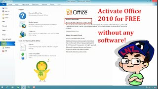 Activate Microsoft Office 2010 for FREE without any software ✔