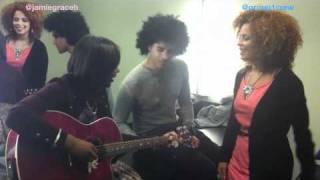 Jamie Grace Video - [Jamie Grace 2011] Hold Me feat. Group 1 Crew (Improv Video Backstage)