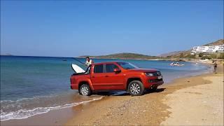 To VW Amarok στη... θάλασσα