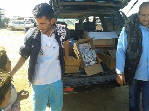 صور حصرية لأخبار الآن تظهر حصول سكان عين العرب كوباني على مساعدات طبية - أخبار الآن
