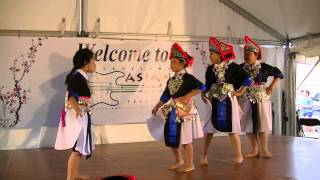 Hmong Ethnic Group Dance at Cleveland Asian Festival