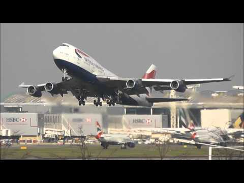 Heavy Sunset Departures \ London Heathrow Airport 02/04/12