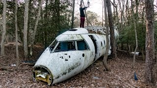 FOUND AN ABANDONED PLANE CRASH... (POTENTIAL WAR PLANE)