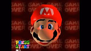 Super Mario 64 game over screen