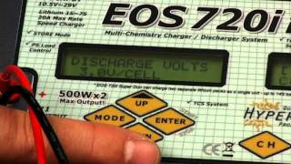 How to set memory position, charge, & discharge - lipo - Hyperion EOS720i SUPER DUO 3 Charger