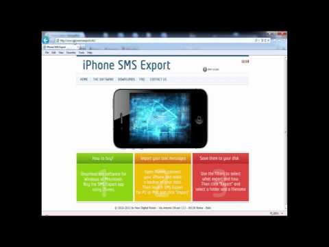 iPhone SMS Export: learn how to save your text messages from the iPhone to your PC / Mac