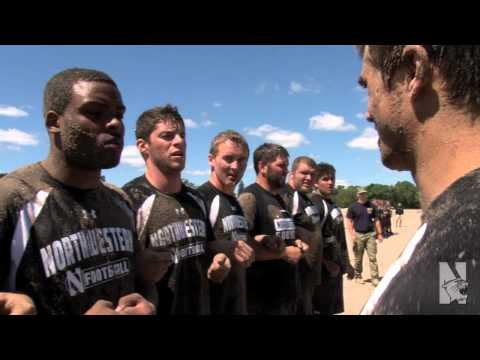 Northwestern Football Holds Promotional Activity with Navy SEALs Image 1