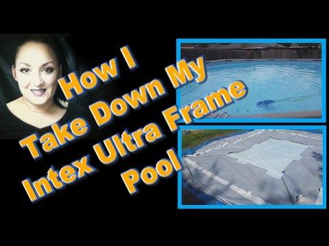 How I Take Down My Intex Ultra Frame Pool
