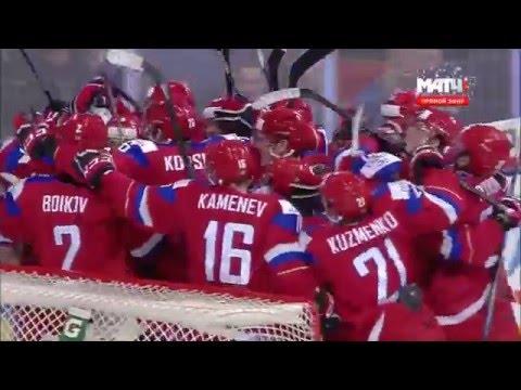 Хоккей МЧМ 2016 1/2 финала Россия США 2:1 Обзор