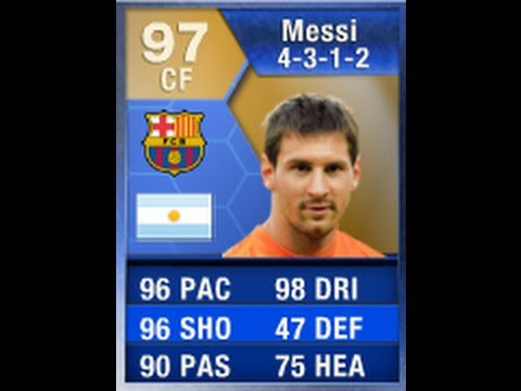 FIFA 13 TOTS MESSI 97 Player Review & In Game Stats Ultimate Team