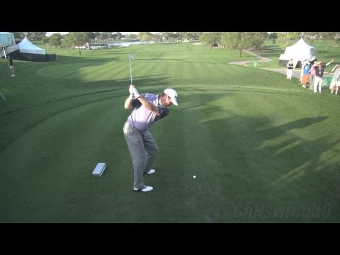 GOLF SWING 2013 - LEE WESTWOOD IRON DRIVE - ELEVATED DTL REGULAR & SLOW MOTION - 1080p HD