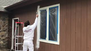 Spray Painting Vinyl Clad Windows- Warsaw, Syracuse, Goshen and Columbia City Indiana