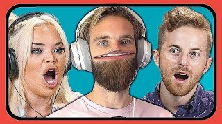 Reacting to YouTubers Reacting to Pewdiepie vs 🅱Series