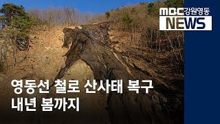 R]영동선 철도 산사태 내년 봄까지 복구