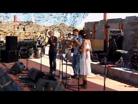 Darol Anger, Scott Law, Sharon Gilchrist @ Joshua Tree Roots Music Festival 10-10-10