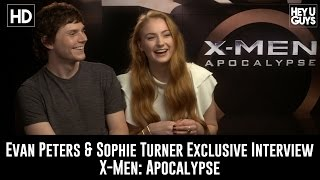 Sophie Turner and Evan Peters Exclusive Interview - X-Men Apocalypse