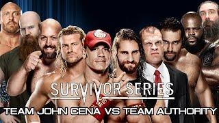 WWE Survivor Series 2014 - Team John Cena vs Team Authority - WWE 2K15