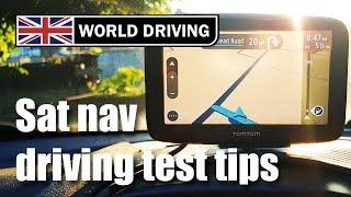 Sat nav - UK driving test route | driving test tips