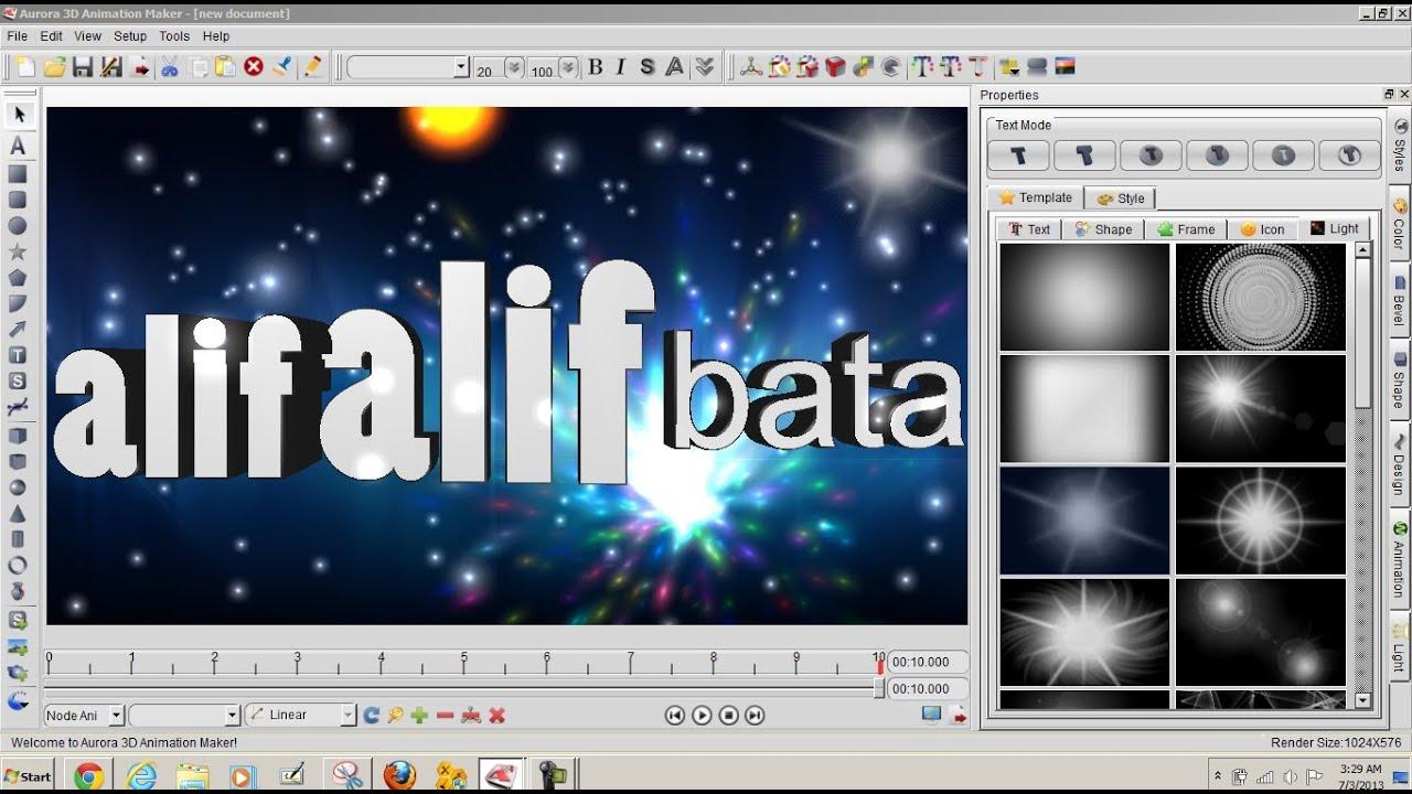 Cara Menjalankan Aurora 3d Animation Maker Youtube