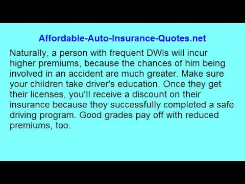 Affordable Auto Insurance - Secrets To Lower Premiums