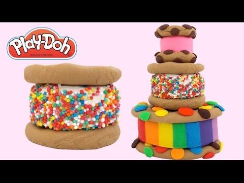 Play-Doh How to Make a Rainbow Sandwich Cake * Play Dough Art * Creative Fun * RainbowLearning