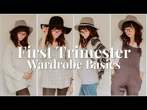 FIRST TRIMESTER WARDROBE BASICS | TIPS & OUTFIT IDEAS ON A BUDGET - YouTube