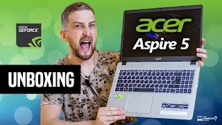 Unboxing Notebook Acer Aspire 5 A515-52G-577T Core i5-8265U | Geforce MX130 | primeiras impressões